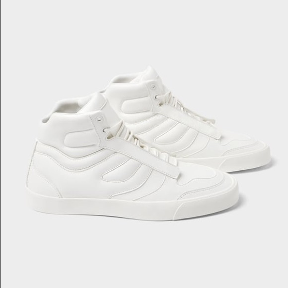 c6341106 Zara men white padded high top sneakers - HP NWT